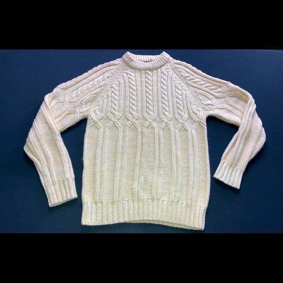 VTG VanCort chunky knit mock turtleneck sw…
